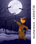 scarecrow stands before entry a ... | Shutterstock . vector #63004738