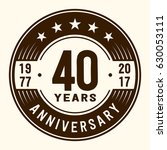 40 years anniversary logo... | Shutterstock .eps vector #630053111