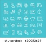 set line icons in flat design... | Shutterstock . vector #630053639