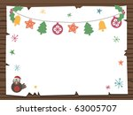 wooden sign with christmas... | Shutterstock .eps vector #63005707