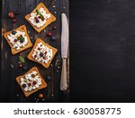 Open Toast  Sandwiches With...