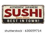 Sushi Vintage Rusty Metal Sign...