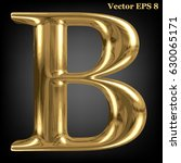 vector letter b from gold solid ... | Shutterstock .eps vector #630065171