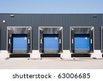 front view of loading docks | Shutterstock . vector #63006685