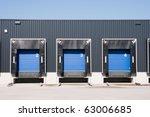 front view of loading docks | Shutterstock . vector #63006685