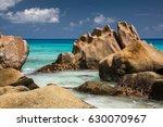 island la digue at seychelles | Shutterstock . vector #630070967