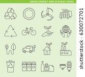 set of sixteen green energy... | Shutterstock .eps vector #630072701