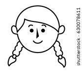 cute little girl character | Shutterstock .eps vector #630078611