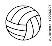 Volleyball Balloon Isolated Icon