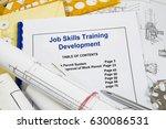 job skills training ... | Shutterstock . vector #630086531