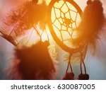 dream catcher in the wind and... | Shutterstock . vector #630087005