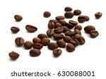 coffee beans. isolated on white ... | Shutterstock . vector #630088001