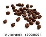 some coffe beans isolated on...   Shutterstock . vector #630088034