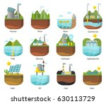 generation energy types power... | Shutterstock .eps vector #630113729