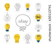 cartoon lamp light bulb design... | Shutterstock .eps vector #630113741