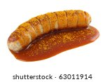 Curry sausage - stock photo