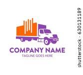 freight truck logo template | Shutterstock .eps vector #630131189