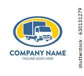 freight truck logo template | Shutterstock .eps vector #630131279