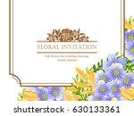 vintage delicate invitation... | Shutterstock .eps vector #630133361