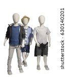 three mannequins dressed in... | Shutterstock . vector #630140201