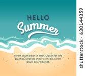 hello summer concept vector... | Shutterstock .eps vector #630144359