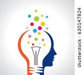 idea solution bulb human man... | Shutterstock .eps vector #630147824