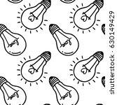 lamp  light bulb with heart... | Shutterstock .eps vector #630149429