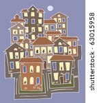 vector illustration of a small... | Shutterstock .eps vector #63015958