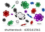 realistic casino chips isolated ... | Shutterstock .eps vector #630161561