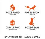collection of orange fox logos