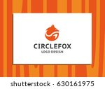 circle fox   the orange fox... | Shutterstock .eps vector #630161975