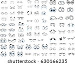 cartoon eyes in vector | Shutterstock .eps vector #630166235