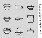 soup icons set. set of 9 soup... | Shutterstock .eps vector #630177299
