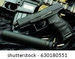 hand gun  bullet on assault... | Shutterstock . vector #630180551