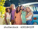 portrait of friends standing... | Shutterstock . vector #630184109