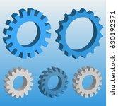 3d mechanical gear. vector... | Shutterstock .eps vector #630192371