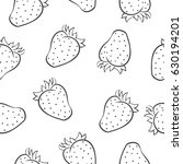 doodle of strawberry fruit hand ...   Shutterstock .eps vector #630194201