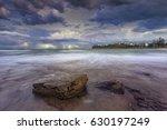 storm and lightning at moffat's ... | Shutterstock . vector #630197249