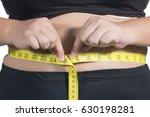 asian fat women has overweight. ... | Shutterstock . vector #630198281