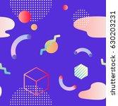trendy neo memphis background.... | Shutterstock .eps vector #630203231