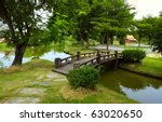 Wooden Bridge Over Little Rive...