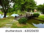 Wooden Bridge Over Little Rive...