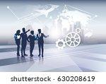 business team silhouette... | Shutterstock .eps vector #630208619