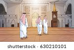 arab people coming to mosque... | Shutterstock .eps vector #630210101