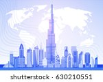 dubai skyline panorama over... | Shutterstock .eps vector #630210551