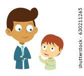 a discussion between teacher...   Shutterstock .eps vector #630211265