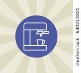 coffeemaker icon. sign design.... | Shutterstock .eps vector #630213305