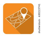 pointer on map icon. vector... | Shutterstock .eps vector #630215741