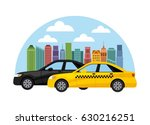 taxi service public transport | Shutterstock .eps vector #630216251