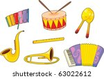 illustration of musical... | Shutterstock .eps vector #63022612